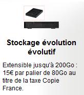SFR boitier multimédia disque dur