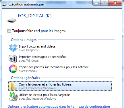 Dropbox 1.3.5 ordinateur upload automatique photos
