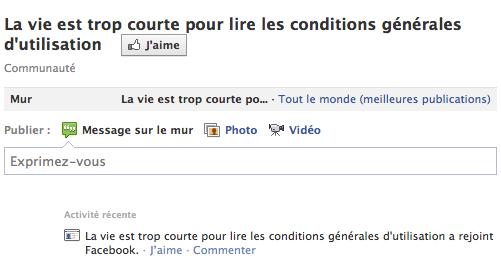 Facebook CGU
