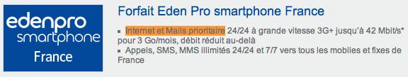 Bouygues Eden Pro internet prioritaire