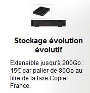 sfr copie france  disque dur neufbox