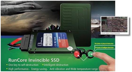 RunCore SSD auto destruction