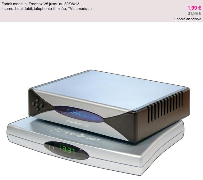 vente priv e freebox v5 1 99 par mois sfr volution 14 90 9 90 next inpact. Black Bedroom Furniture Sets. Home Design Ideas