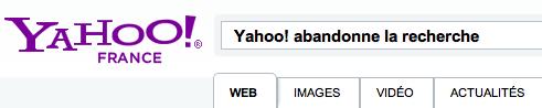 Yahoo recherche