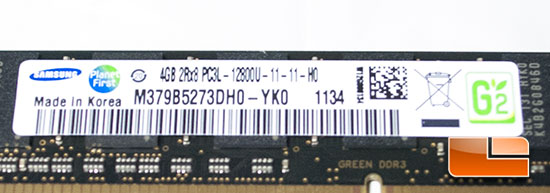 Ram Samsung 1600MHz Green Low profile