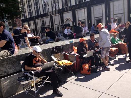 Apple iPhone 5 fanboys New York