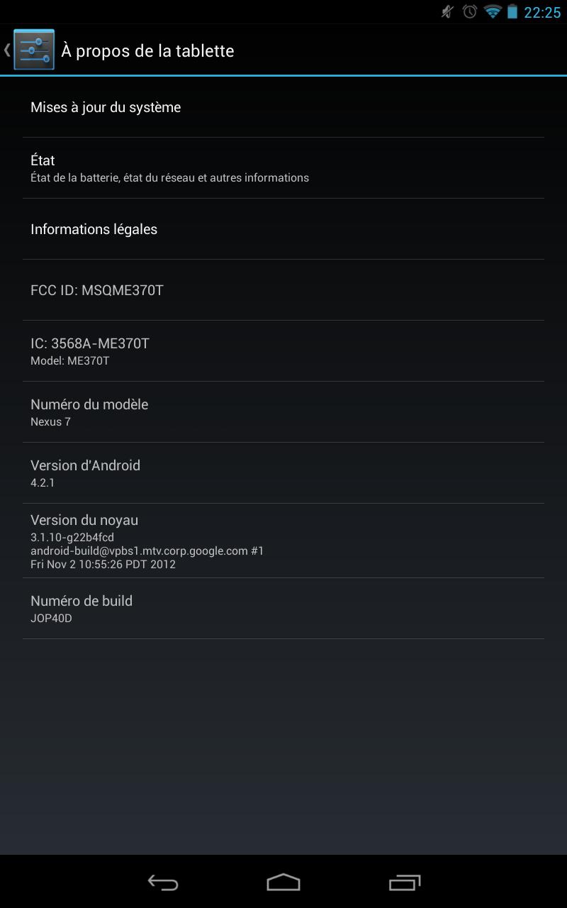 Nexus 7 Android 4.2.1