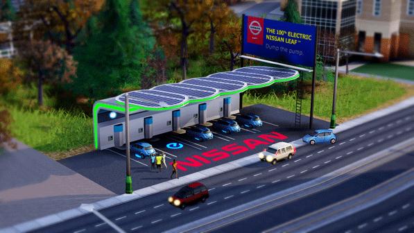 SimCity DLC Nissan