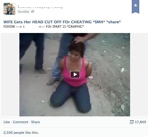 facebook décapitation