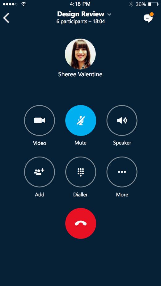 Skype for Business iOS