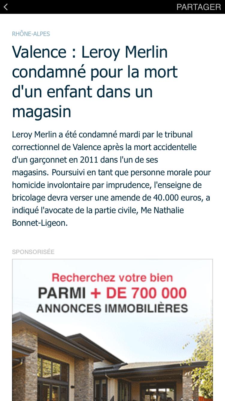 Facebook Instant articles Parisien