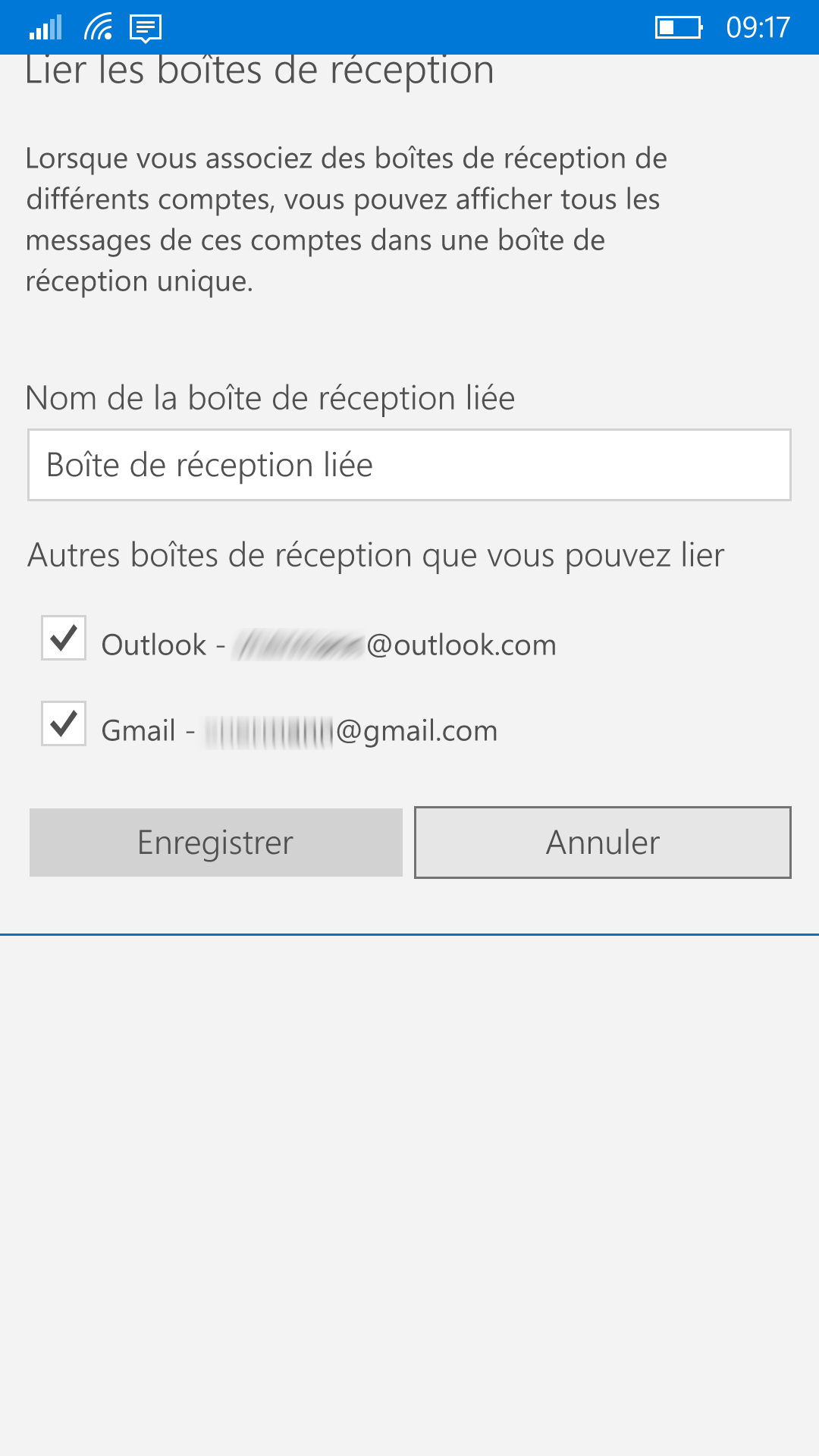 Windows 10 courrier