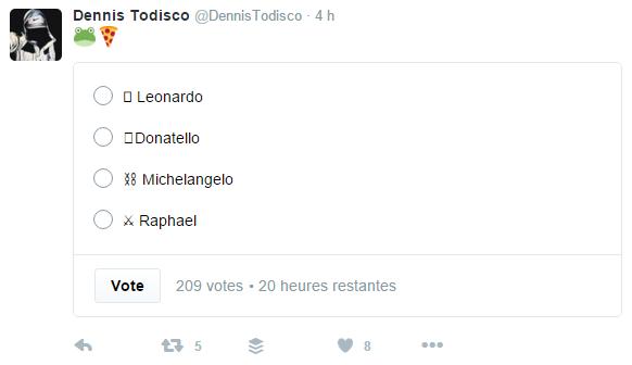 Twitter sondages