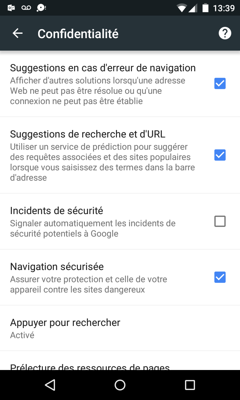 Chrome 46 Android