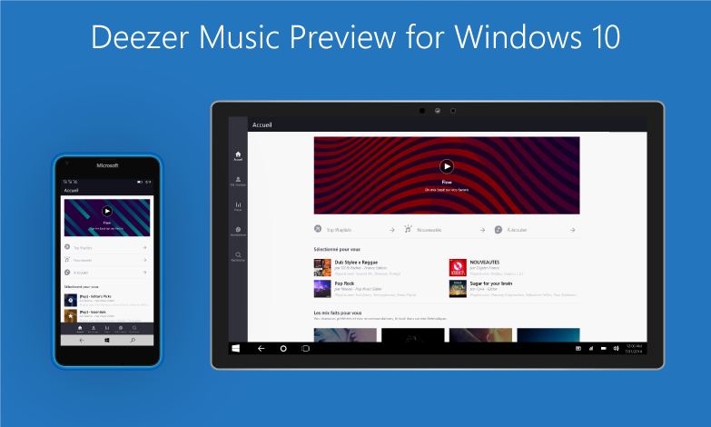 Deezer Windows 10