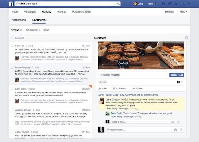 Facebook Nouveaux outils Pages