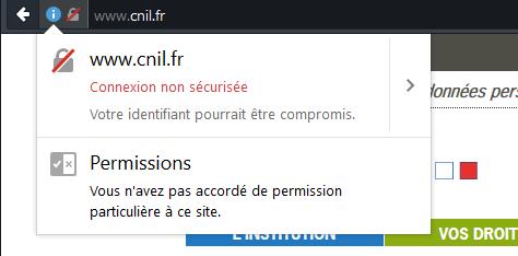 Extranet CNIL HTTP