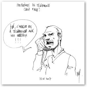 téléphone free panne problème hotline