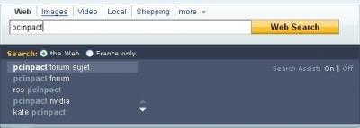 Yahoo moteur recherche assistant