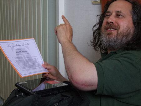 Richard Stallman CC By Sa - Valérie Dagrain