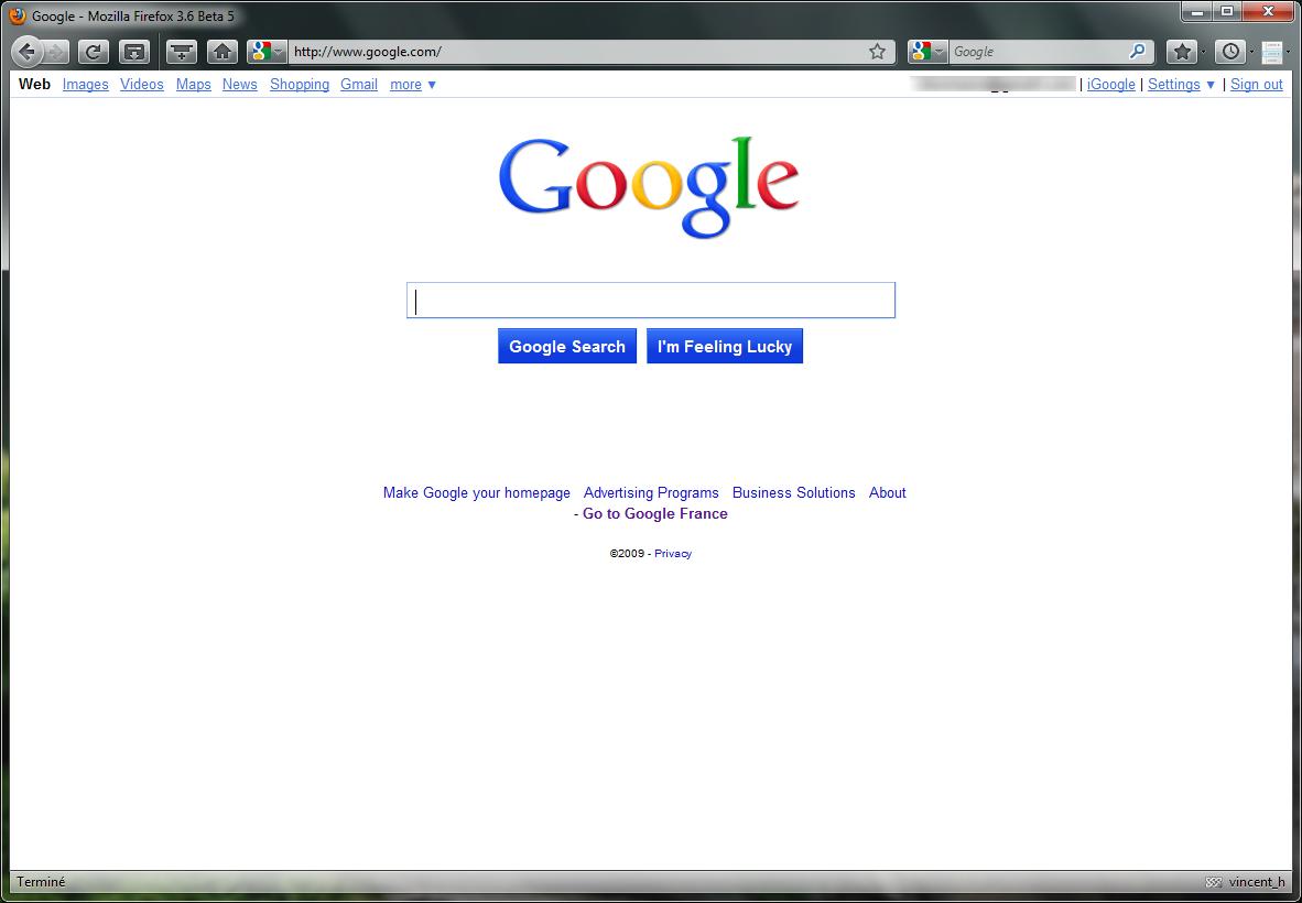 google la nouvelle page d 39 accueil active aux tats unis