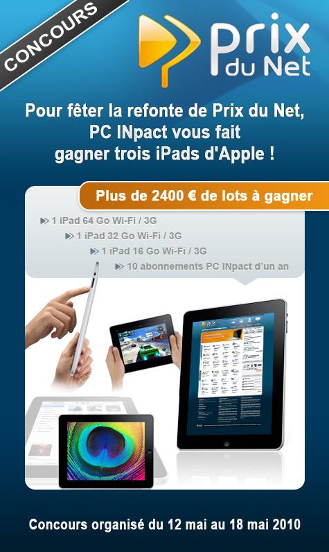 Concours Prix du Net 2010 iPad