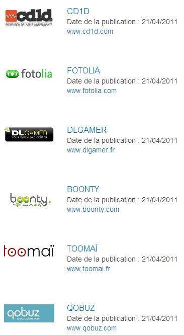 Hadopi sites labellises jeux video logiciels