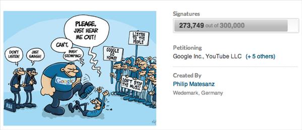 pétition google youtube-mp3