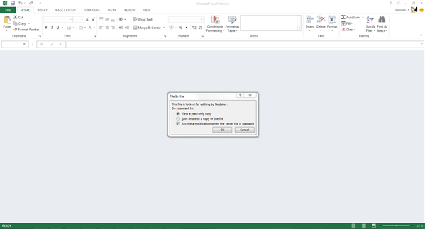 Excel 2013 Collaboratif Impossible