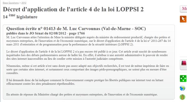 blocage LOPPSI