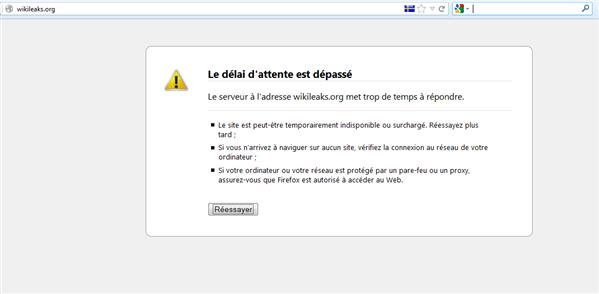 wikileaks DDOS