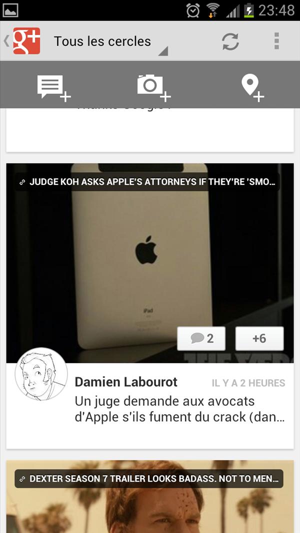 Google+ raccourcis