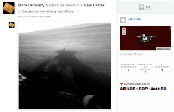 mars curiosity foursquare