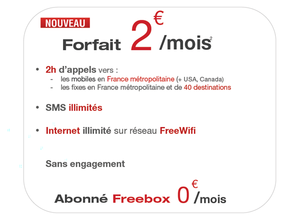 free mobile 2 €