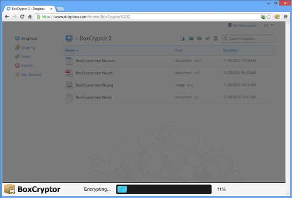 BoxCryptor Chrome