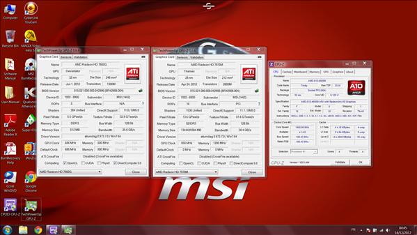 MSI GX60 AMD GPU CPU
