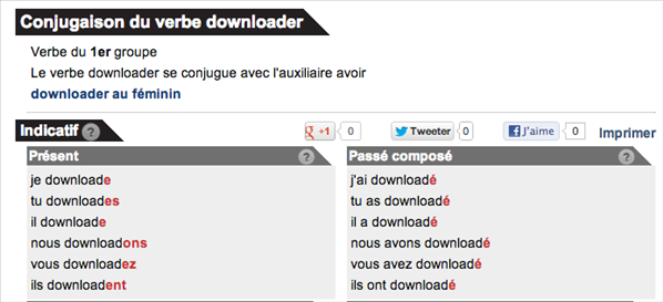 Conjugaison downloader