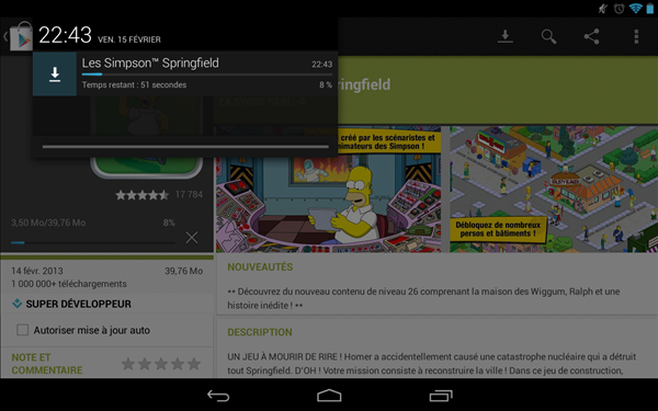 Android 4.2.2 notification