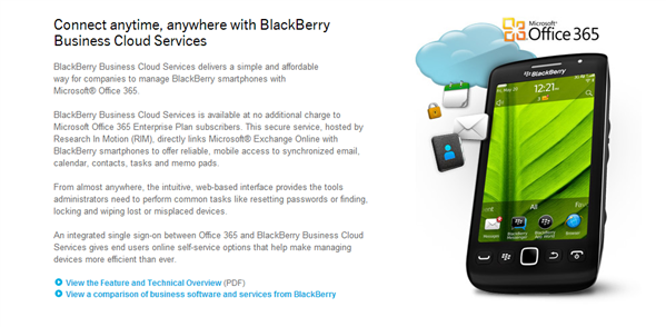 BlackBerry Business Cloud Services