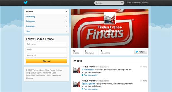 Findus Twitter