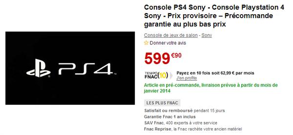 PlayStation 4 précommande