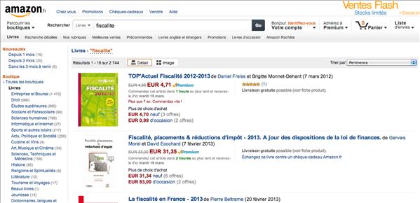 Amazon fiscalité