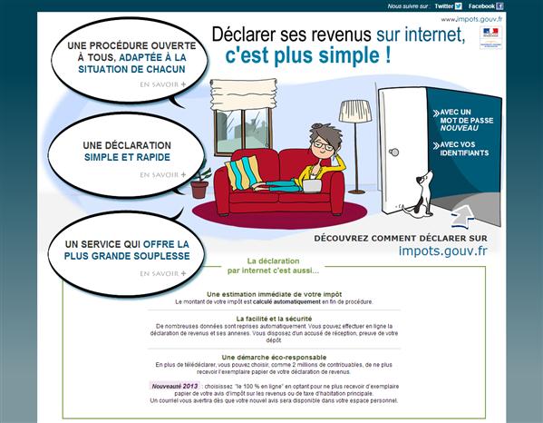 Campagne Impots sur le revenu 2013