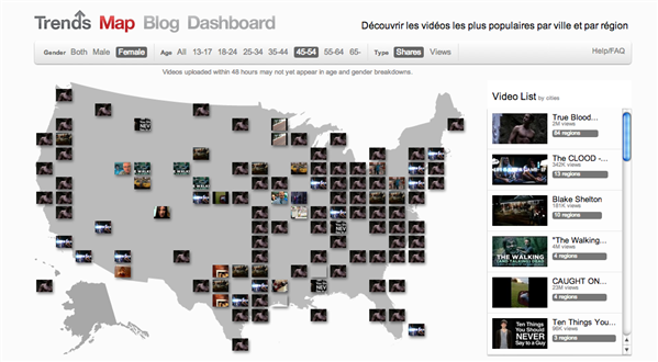 YouTube Trends Map