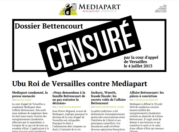 Mediapart Bettencourt