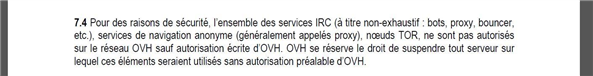 OVH TOR proxy VPN IRC