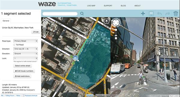 screenshot waze