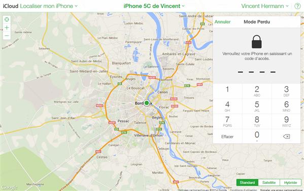 iphone icloud mode perdu blocage