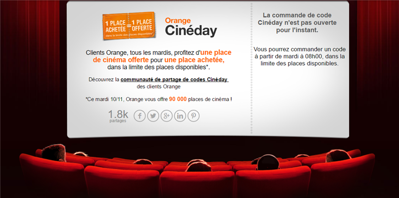 Orange Cinéday