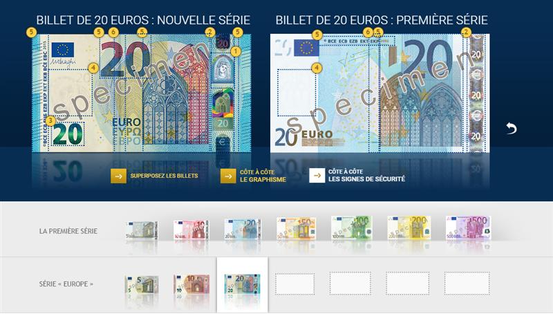 Billet 20 euros